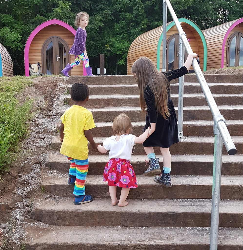 Kids and glamping pods